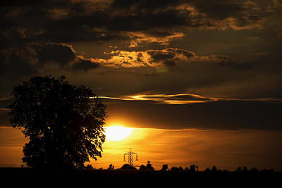 Photograph - The Sun Sets by Rajiv Chopra
