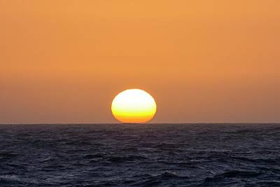 Drake Photograph - The Sun Setting Over The Southern Ocean by Ashley Cooper