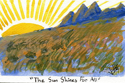 Painting - The Sun Shines For All by Victor Vosen
