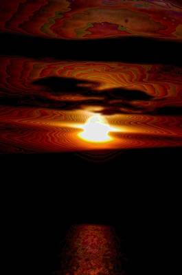 Clouds Photograph - The Sun Splashing Down by Jeff Swan