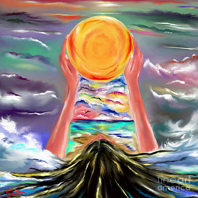 Digital Art - The Sun Will Shine Again by Lori  Lovetere