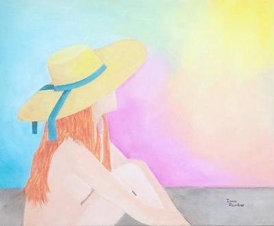 The Sunbathing Art Print by Isaac Alcantar