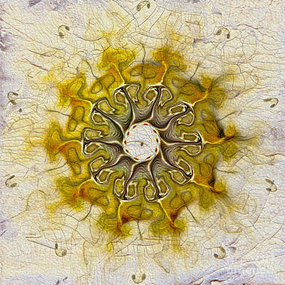 Generative Digital Art - The Sundial by Deborah Benoit