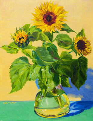 Painting - The Sunflowers Are Mine by Lucy Chen