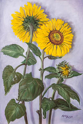 Painting - The Sunflowers by Randol Burns