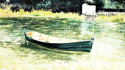 Amagansett Painting - The Sunken Boat by Lorraine LaVista