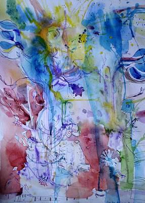 Painting - The Sunny Walk by Aurelija Kairyte-Smolianskiene