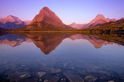 Photograph - The Sunrise On Mount Grinnell As Seen by Ben Horton