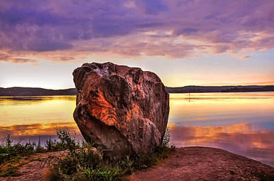 Photograph - The Sunrise Over Mysterious Stone. North Russia by Jenny Rainbow