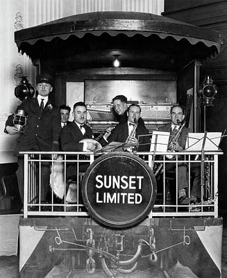 Photograph - The Sunset Limited Band by Underwood Archives