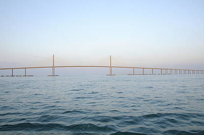 Photograph - The Sunshine Skyway Bridge by Bradford Martin