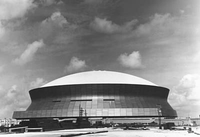 Louisiana Photograph - The Superdome by Underwood Archives