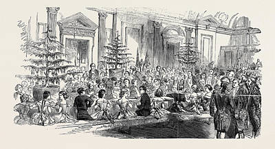The Supper Room, New Years Eve Art Print by English School