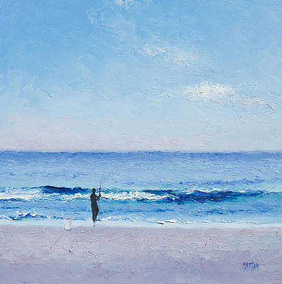 The Surf Fisherman Art Print