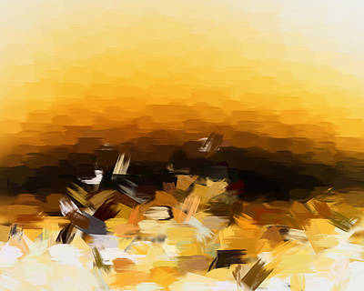 Painting - The Surface Of The Sun by Shane Dufoe