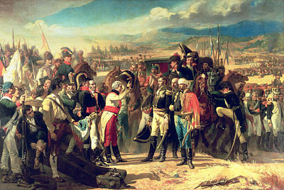 French Defeat Painting - The Surrender Of Bailen by Jose Casado del Alisal