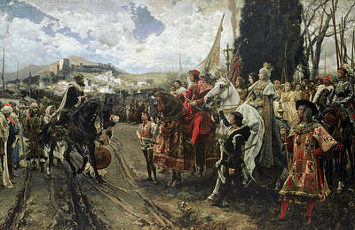Armed Forces Painting - The Surrender Of Granada by Francisco Pradilla y Ortiz