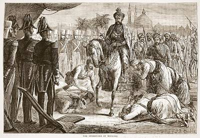 Sikh Drawing - The Surrender Of Moolraj, Illustration by English School