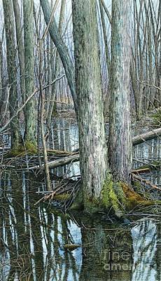 Painting - The Swamp 3 by Robert Hinves
