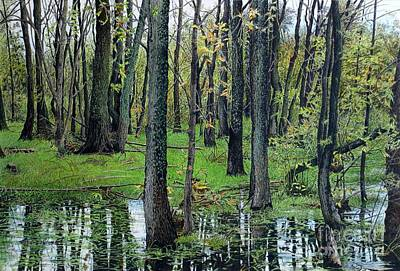 Painting - The Swamp by Robert Hinves