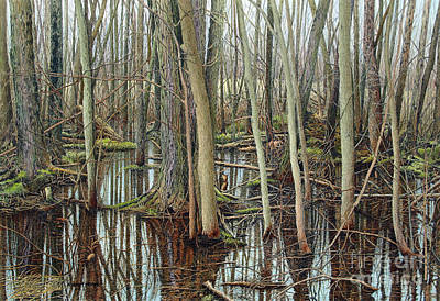 Painting - The Swamp V by Robert Hinves