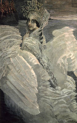 Swan Lake Photograph - The Swan Princess, 1900 by Mikhail Aleksandrovich Vrubel