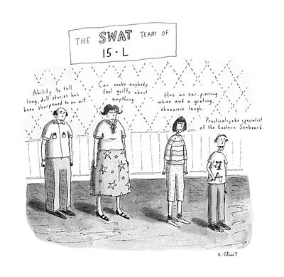 Team Drawing - The Swat Team Of 15-l by Roz Chast