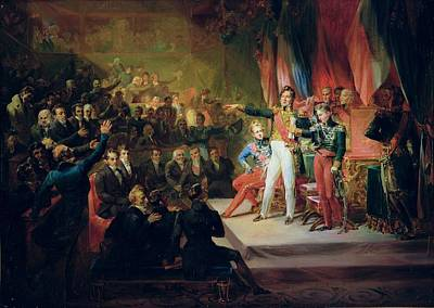 The Swearing-in Of Louis-philippe 1773-1850 9th August 1830 Oil On Canvas Art Print
