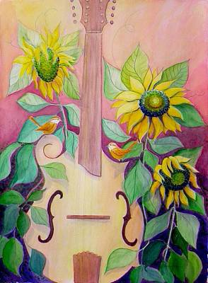 Sunflowers Painting - The Sweetest Sound by Laura Nance