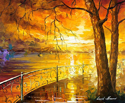 The Sweetness Of The Sun - Palette Knife Oil Painting On Canvas By Leonid Afremov Original