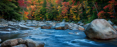Photograph - The Swift River Of New Hampshire-an Autumn Grand Landscape by Expressive Landscapes Nature Photography