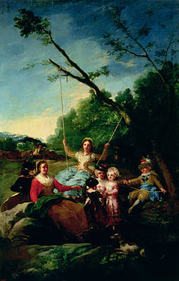Child Swinging Photograph - The Swing by Francisco Jose de Goya y Lucientes