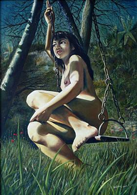 The Swing Art Print by Jo King