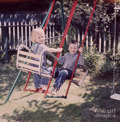 Photograph - The Swing by Vintage Photography