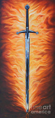 Painting - The Sword Of The Spirit by Ilse Kleyn