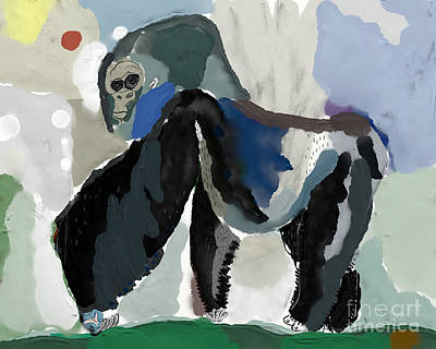Ape Wall Art - Digital Art - The Symbolic Image Of A Monkey, Which by Dmitriip