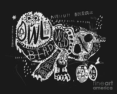 Forest Animal Wall Art - Digital Art - The Symbolic Image Of The Owl, Which by Dmitriip
