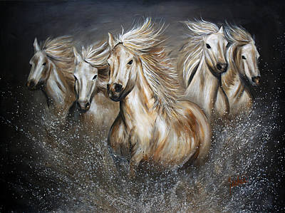 Horseback Painting - The Symphony by Teshia Art