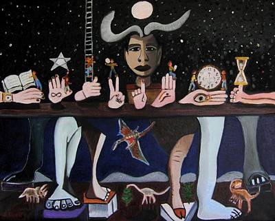 The Table Of Time Original by Karen Serfinski