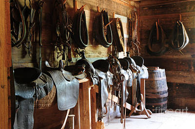 Photograph - The Tack Room by Vinnie Oakes