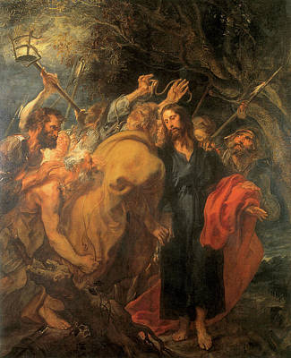 Van Dyke Painting - The Taking Of Christ by Anthony Van Dyke