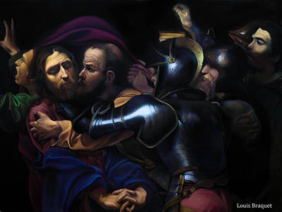 The Taking Of Christ - Caravaggio Replica Original by Louis  Braquet