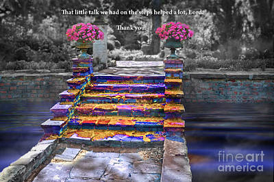 Digital Art - The Talk Version One by Margie Chapman