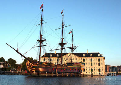 The Tall Clipper Ship Stad Amsterdam - Sailing Ship  - 05 Print by Gregory Dyer