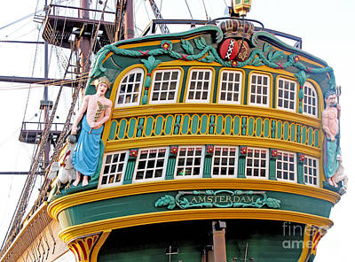 The Tall Clipper Ship Stad Amsterdam - Sailing Ship  - 09 Art Print by Gregory Dyer