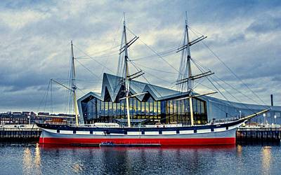The Tall Ship Glenlee At The Riverside Museum Glasgow  Print by Tylie Duff