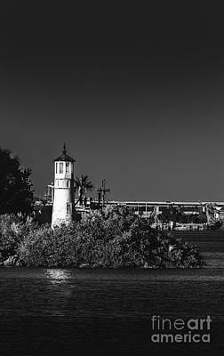 Marker Photograph - The Tampa Lighthouse by Marvin Spates