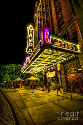 The Tampa Theater Art Print by Marvin Spates