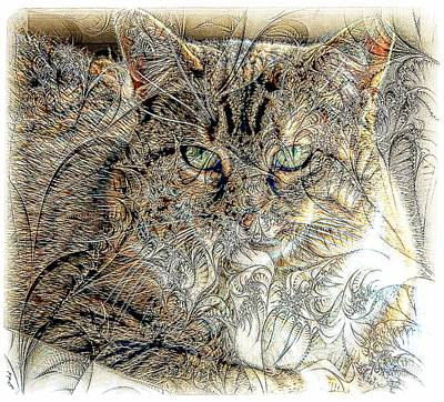 Kathleen Photograph - The Tapestry Cat by Kathleen Struckle