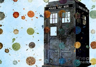 The Tardis I Art Print by Angelica Smith Bill